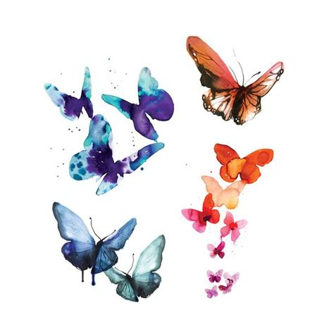 tattly watercolor butterflies set by stina persson from