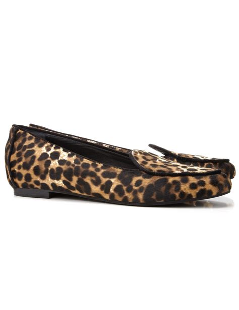 leopard print loafers aperlai leopard print gatsby loafers in animal leopard