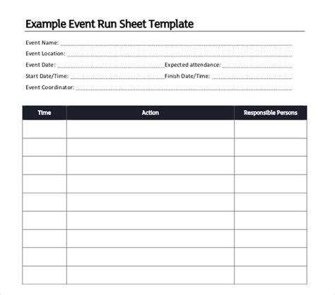 event run sheet template 10 run sheet templates pdf doc free premium templates