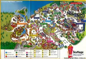 six flags california map theme park brochures six flags great adventure theme
