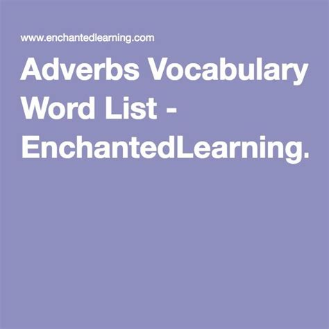 Enchantedlearning Kitchen List 1000 Ideas About Adverbe Liste On Liste Des