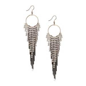 Chandelier Earrings Wholesale Long Dangle Earrings Rhinestone Chain Fringe Earrings Hoop