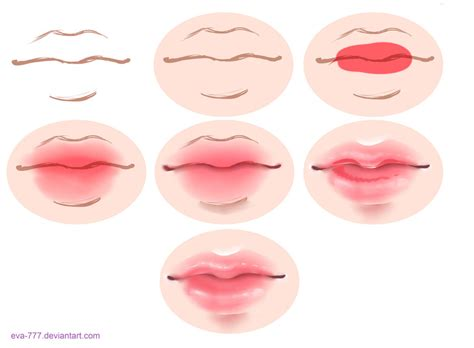 watercolor lips tutorial the lesson lips draw sai by eva 777 on deviantart