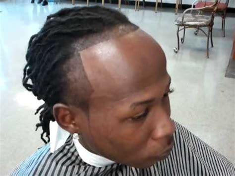 do dreads make your hairline recede dreadlock with tempfade flawless edge up part 2 youtube
