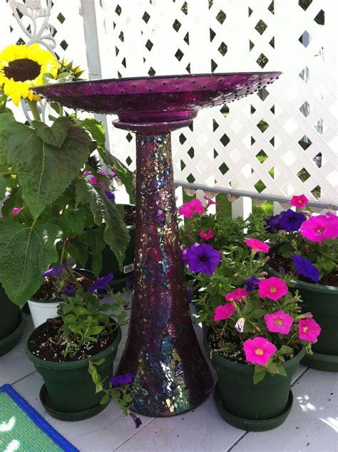 Hometalk   DIY Bird Bath From Repurposed Vase and Plate