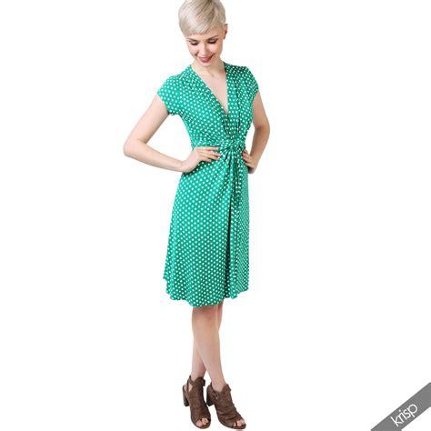 swing kleid mit punkten damen mini kleid mit punkten wickelkleid sommerkleid v