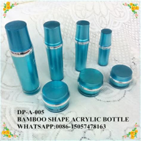 Depai Blue china transparent acrylic bottle for skin care