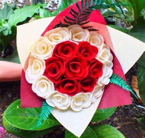Membuat Buket Bunga Dari Kain Flanel | cara membuat buket bunga mawar dari kain flanel mudah dan
