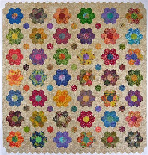 Patchwork Hexagons - con las manos en la aguja telas medias