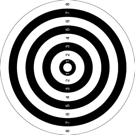 printable paper shooting targets paper targets printable page 4