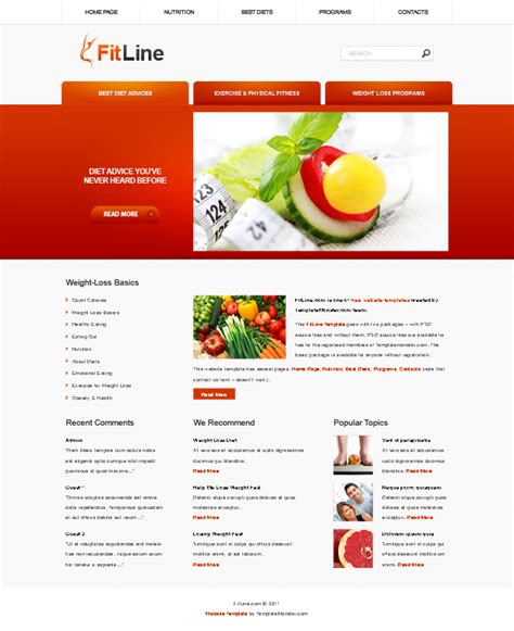 Free Fitness Website Template Template Free Fitness Website Templates