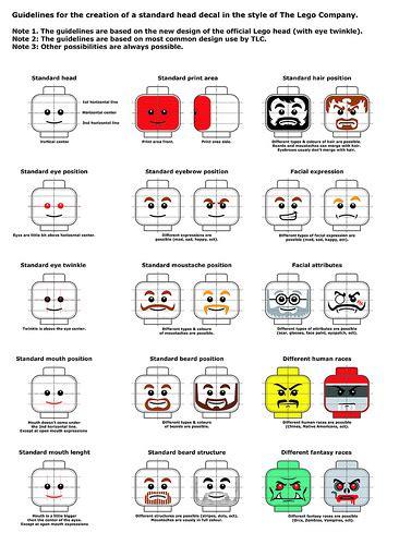 printable lego stickers lego head decal guidelines custom lego minifigures