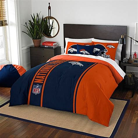 denver broncos comforter set buy nfl denver broncos full embroidered comforter set from