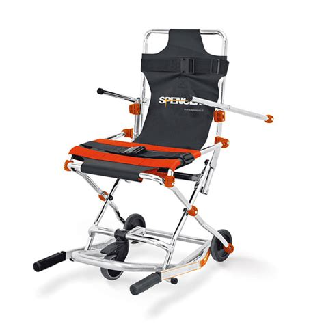 sedia scendiscale sedia portantina da evacuazione a 3 ruote spencer 402 in