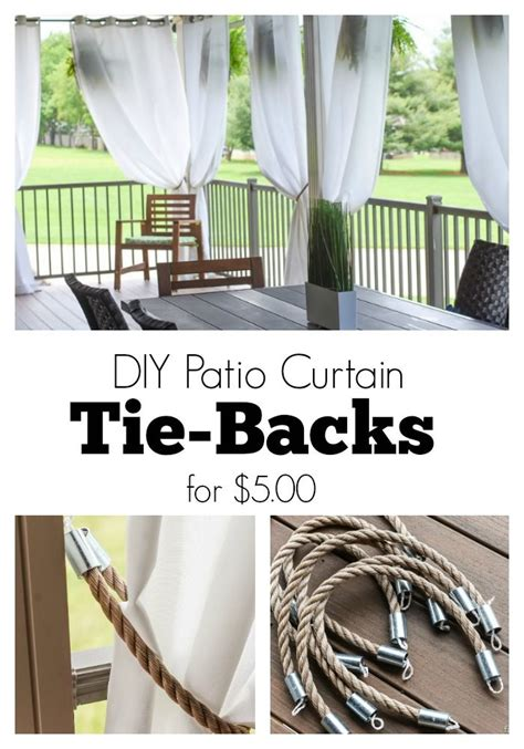 outdoor curtain tie backs 25 best ideas about patio curtains on pinterest