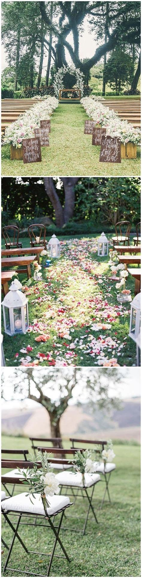 25 rustic outdoor wedding ceremony decorations ideas country weddings 187 25 rustic outdoor wedding ceremony