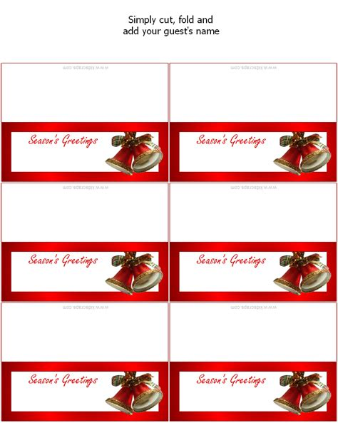 free printable christmas place cards holiday party