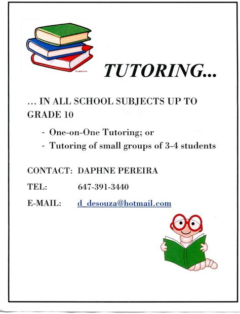 9 Best Images About Tutoring On Pinterest To Be Communication Skills And Language Tutoring Flyer Template