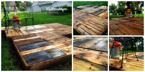 Patio On A Pallet by Minettesmaze Diy Pallet Deck