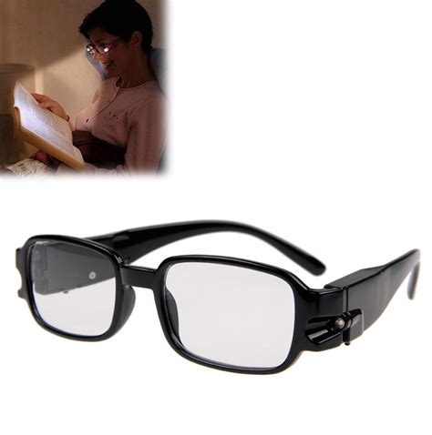 multi strength unisex reading glasses with dual led lights