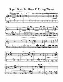 Mario theme song trumpet sheet music quotes