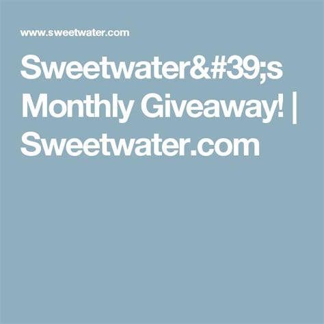 Sweetwater Giveaway - 22 best ideas about don t be afraid 365 bible verses on pinterest thanks