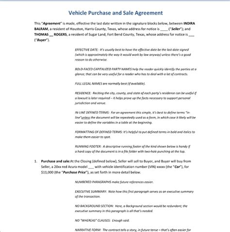 car purchase agreement template car purchase contract template new calendar template site