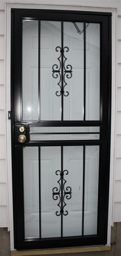 Wrought Iron Screen Door security screen doors wrought iron security screen door