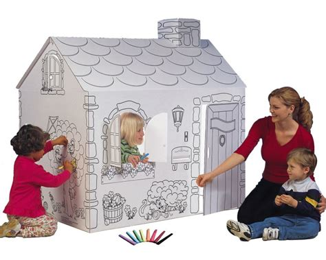 cardboard playhouse to color turning cardboard boxes into your child s playhouse