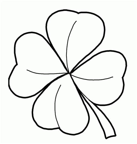 Coloring Page 4 Leaf Clover by Four Leaf Clover Coloring Pages Best Coloring Pages For