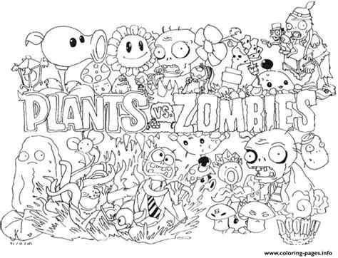 2 Plants Vs Zombies Coloring Pages Printable