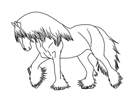 coloring pages of clydesdale horses vanner coloring pages coloring pages