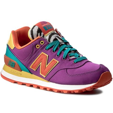 colorful new balance 574 sneakers new balance wl574py colourful purple sneakers