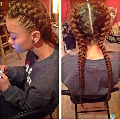 french braids and weave hairstyles i love these two french braids mixed creation
