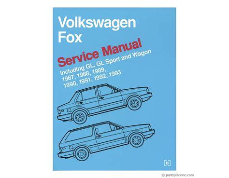 automotive service manuals 1987 volkswagen fox engine control vw fox repair manual free tech help