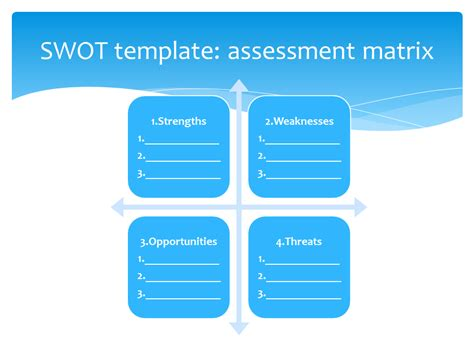 swot template strategic planning and marketing templates