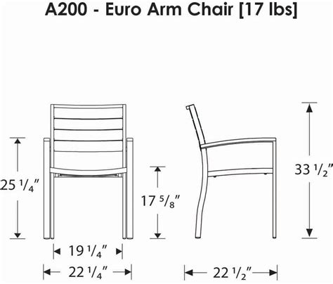 Polywoodfurniture Com Gt Polywood 174 Euro Dining Height Arm Chair Standard Height Of Dining Chair