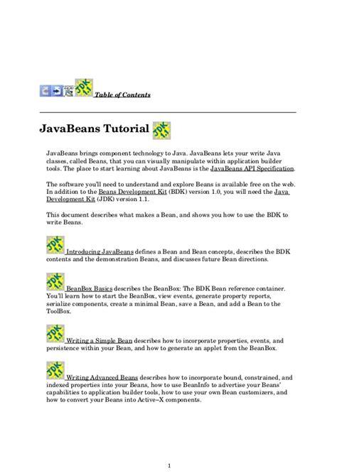 naming pattern in java beans java beans