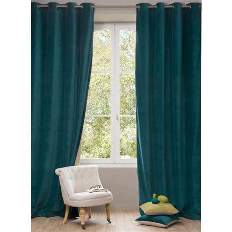 Bien Chambre Bebe Bleu Canard #6: rideau-en-velours-bleu-canard-140-x-300-cm-1000-7-19-148111_1.jpg