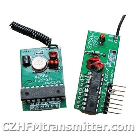 1 Set Wirelles Remote Kit Transmitter Receiver wireless transceiver receiver modules remote wholesale fmuser czh cze fm transmitter