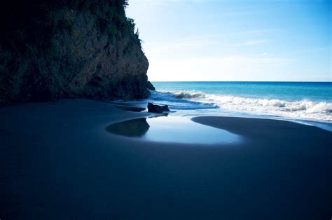 beach with black sand photo of the day montserrat s beautiful black sand