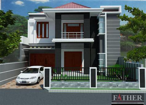 desain dapur 1 x 2 contoh desain rumah 2 lantai yang modern renovasi rumah net