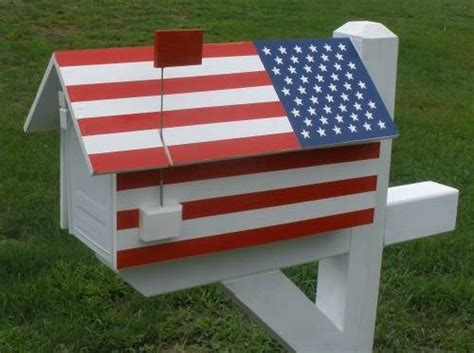 Flag House by American Flag House Mailbox Wrap Cover Wilray Designs