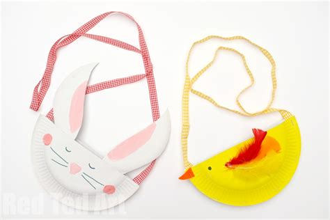 Paper Purse Craft - paper plate bunny purse ted s