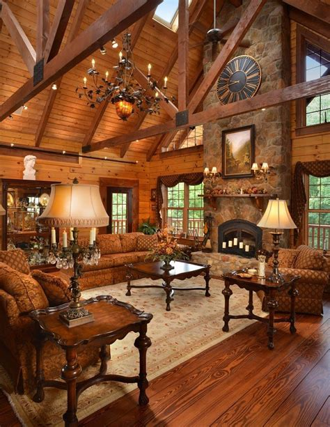 log home interior design luxury a fireplace