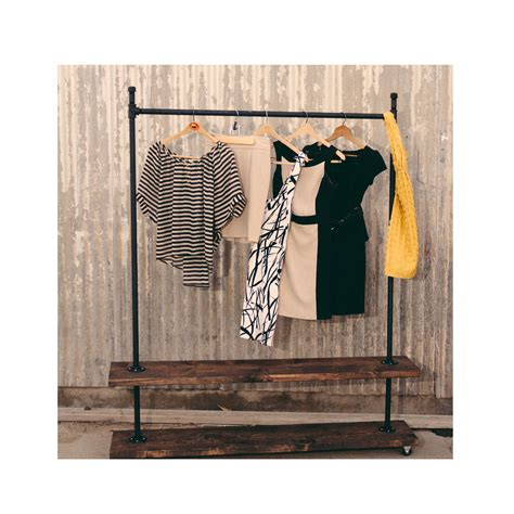 Garment Rack Industrial Pipe Clothing Rack Steunk Rack 24 Trd Shelf Industrial Clothing Rack Rolling Clothes