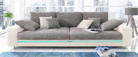 big sofa wahlweise mit rgb led beleuchtung kaufen otto