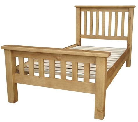 Solid Bed Frames Nordic Chunky Solid Pine Single Bed Frame