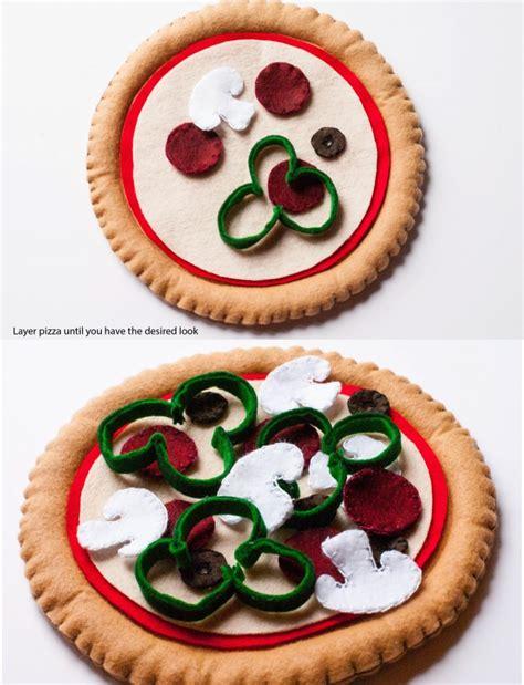 ruff draft diy felt pizza craft pattern  instructions