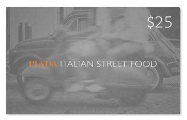 Piada Gift Card - piada italian street food gift cards